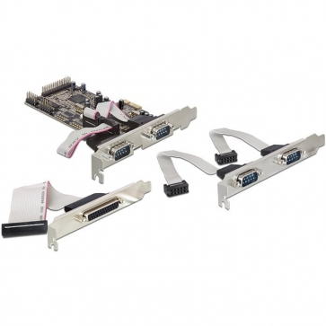 Carte PCI Express 4 série 1 parallèle Dual Profile