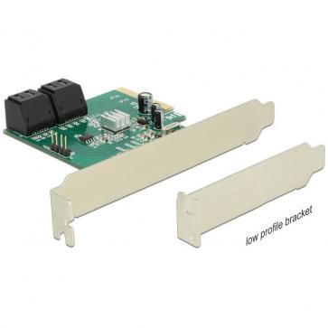 Delock PCIE-S3 Carte PCI Express Sata 6Gbps 4 internes + Raid