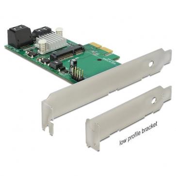 Delock PCIE-S5 Carte PCI Express Sata 6Gbps 3 + 1 mSata int. DP