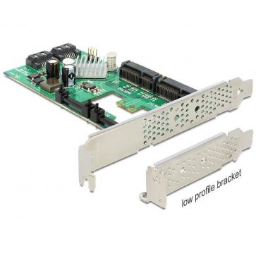 Delock PCIE-S6 Carte PCI Express Sata 6Gbps 2 + 2 mSata int. DP