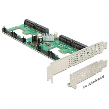 Delock PCIE-S7 Carte PCI Express Sata 6Gbps 4 mSata int. +Raid DP