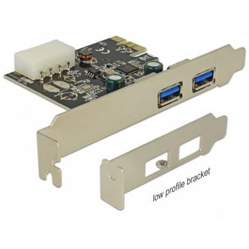 Delock PCIE-U30-1 Carte PCI Express 2 ports USB 3.0 A Dual Profile