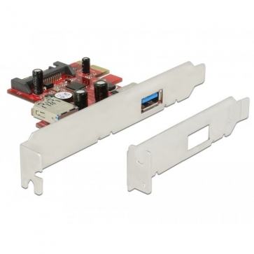 Delock PCIE-U30-2 Carte PCI Express USB 3.0 1+1 ports Dual Profile