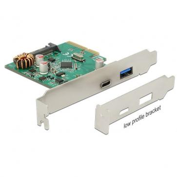 Delock PCIE-U31-2 Carte PCI Express USB 3.1 C + A Dual Profile