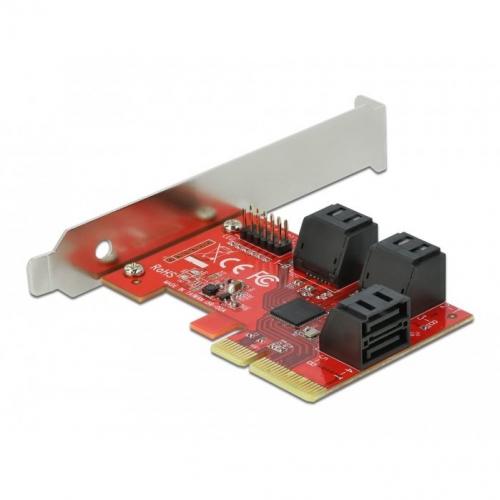 Carte PCIe 4x 6 ports SATA Dual profile