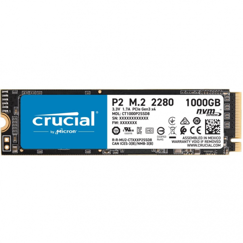 SSD Crucial P2 1 To NVMe 3.0 x4   M.2 2280