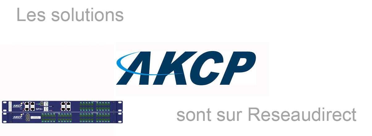 AKCP solutions disponibles sur Reseaudirect.com