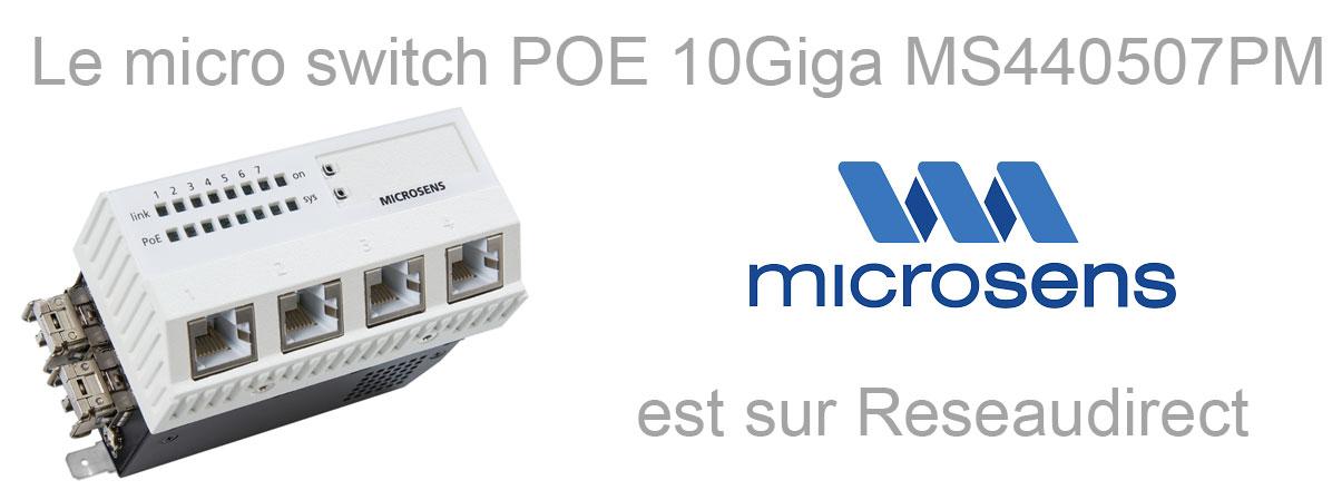 Microsens MS440507Pm micro-switch 10 gigabit